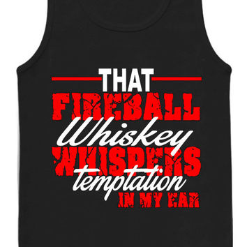 Women's Fireball Whisky Whispers Temptation tank top for womens and mens