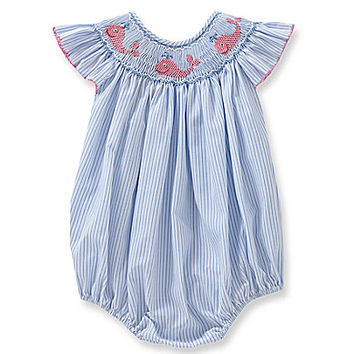 Starting Out 3-24 Months Whale Smocked Bubble Dress | Dillards.com