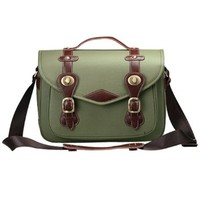 Zlyc Vintage Cow Leather Camera Bag Messenger Bag for DSLR Camera and Lens