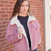 Corduroy Jacket, Blush
