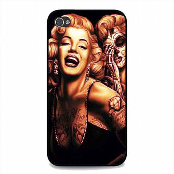 Marilyn Monroe Day Of The Dead For iphone 4 and 4s case
