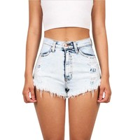 Fashion Vintage Shorts Punk Sexy Short Jeans