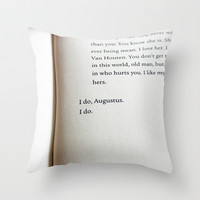 I do Augustus Throw Pillow by Courtney Burns