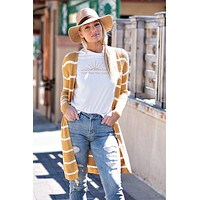 Love In Your Eyes Ribbed Cardigan : Mustard