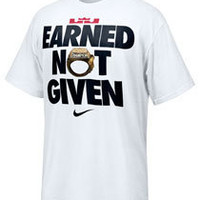 Lebron James Nike Earned Not Given T-Shirt