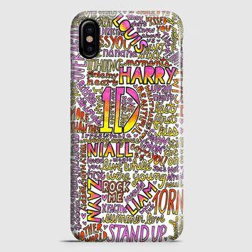 One Direction Harry Styles Tattoos iPhone X Case