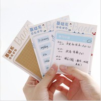 Basic Series of Sticky notes English essay plan paste grid notebook Check list Daily Memo Message Note Work Schedule Scratch Pad