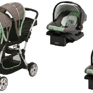 Graco Ottawa Baby, Infant Double Twin Stroller Travel System with 2 Infant Car Seats