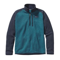 Patagonia Men's Better Sweater® Quarter Zip Fleece | Underwater Blue