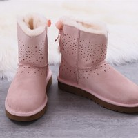 Ugg boots winter women's boots pink shoes