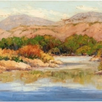 Spring at Big Bend Landscape Canvas Wall Art Print by Maxine Price
