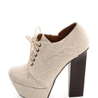 IVORY Lace Overlay Platform Booties | $10 | Cheap Trendy Boots Chic Discount Fashion for Women | Mod