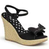 Black Canvas Front Bow Woven Detail Wedges @ Wowpink Wedges Shoes Store:Wedge Shoes,Wedge Boots,Wedge Heels,Wedge Sandals,Dress Shoes,Summer Shoes,Spring Shoes,Prom Shoes,Women's Wedge Shoes,Wedge Platforms Shoes,floral wedges,Fashion Wedge Shoes,Sexy Wed