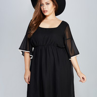 Crochet-Trim Peasant Dress | Wet Seal+