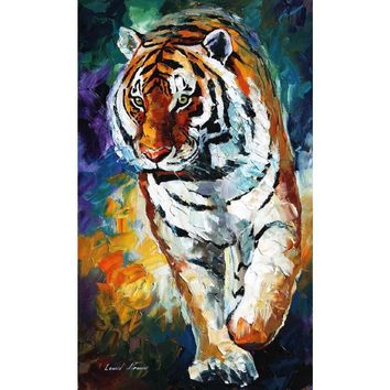 Hand painted animal oil pictures canvas large wall painting bengal tiger pop art for living room decor