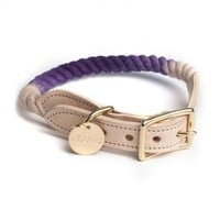 Found My Animal Nautical Rope Dog Collar Purple Ombre | Petswag