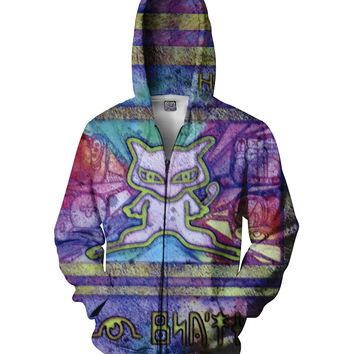 Ancient Mew Zip-Up Hoodie