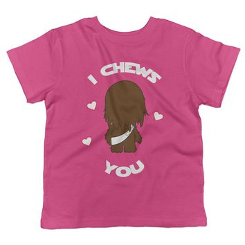 I Chews You Chewbacca Valentine's Day Toddler T-Shirt