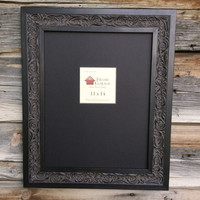 Antique Ornate Black and Aged Brown Frame- 8X10 or 11X14