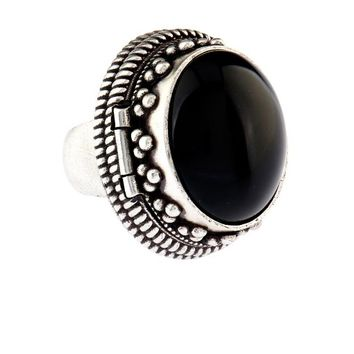 Boîte silver and quartz hinged ring | Saint Laurent | MATCHESFASHION.COM US