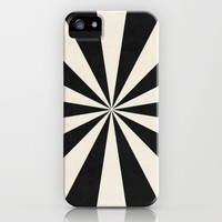 black starburst iPhone & iPod Case by her art