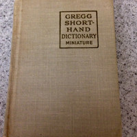 Vintage MINIATURE GREGG SHORTHAND Dictionary--Anniversary Edition