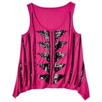 Xhilaration® Juniors Beaded Graphic Tank - Assorted Colors
