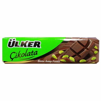 Milk Chocolate with Pistachio by Ulker 1.23 oz