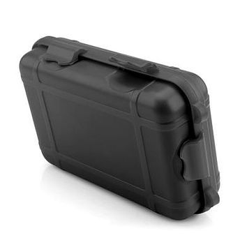 Hard Shell Clip-Lock Shockproof Case (Small) in Black