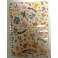 Pokemon Center 2013 Sylveon Eevee Espeon Flareon Glaceon Jolteon Leafeon Umbreon Vaporeon Pikachu Oshawott Small Spiral Notebook