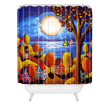 Renie Britenbucher Fall Night Sail Shower Curtain