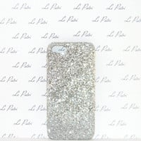 Silver Ombre Glitter Bling Phone Case Phone Cover Made in USA