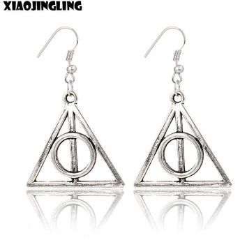 XIAOJINGLING Vintage Harry Potter Earrings Fashion Jewelry Silver Planted Drop Earrings For Women Lady Retro Earing Party Gift