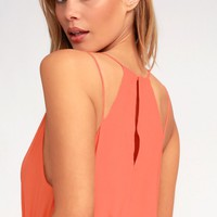 Natalia Bright Peach Tank Top