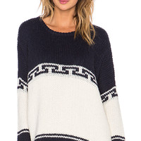 The Lodge Sweater in Navy & Cream