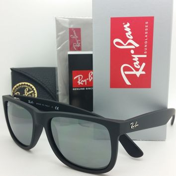 NEW Rayban sunglasses RB4165 622/6G 51 Justin Matte Black Grey Mirror NIB 4165