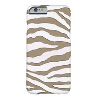 Gold and Silver Zebra Stripe iPhone 6 Case