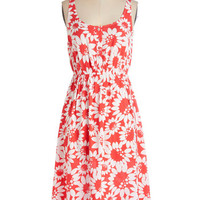 ModCloth Long Sleeveless A-line These Daisies Dress