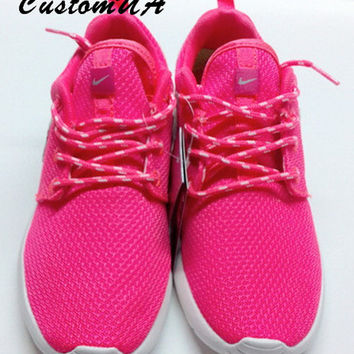 5c3f33c45737 ... wholesale custom nike roshe run athletic running shoes with floral  print e1e74 1bf9d