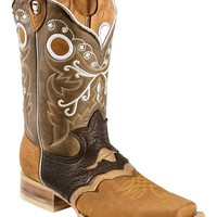 Tanner Mark Rancho Semental Saddle Vamp Cowboy Boots - Square Toe - Sheplers
