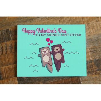 Significant Otter Valentines Day Card