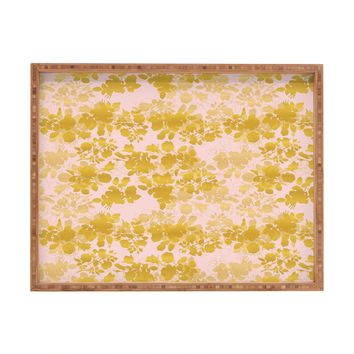 Gabi Audrey Gold Rectangular Tray