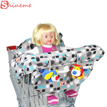 Brand 2 colors five-point harness quality safety folding supermarket infant child shopping cart cover for baby