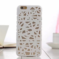 White Candy Color Hollow Out Bird's Nest Phone Back Cover Case Shell For iPhone 4s 5 5s SE 6 6s