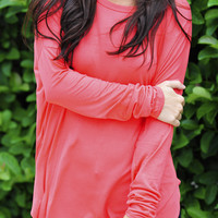 Piko Boo Tunic: Bright Coral | Hope's