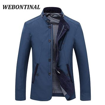 WEBONTINAL 2017 Male Jackets Thin Spring Autumn Coats Quality Casual Windrunner Jacket Men Windbreakers And Veste Man Outerwea
