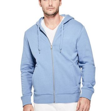Roy Logo Zip Hoodie at Guess