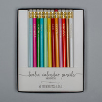 Karen Adams Calendar Pencil Set