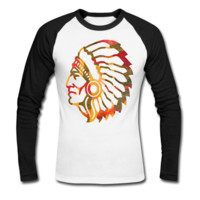 Native American Indian Men's Baseball T-Shirt - Men's Baseball Personalized T Shirts