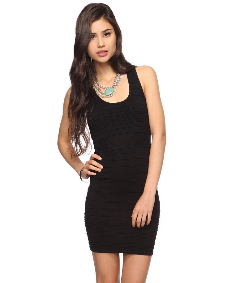 Ribbed Cut-Out Dress | FOREVER21 - 2000038336
